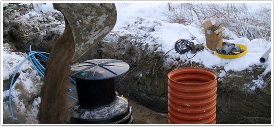 Jätevesijärjestelmän voi uusia myös talvella vastaamaan uutta jätevesiasetusta.