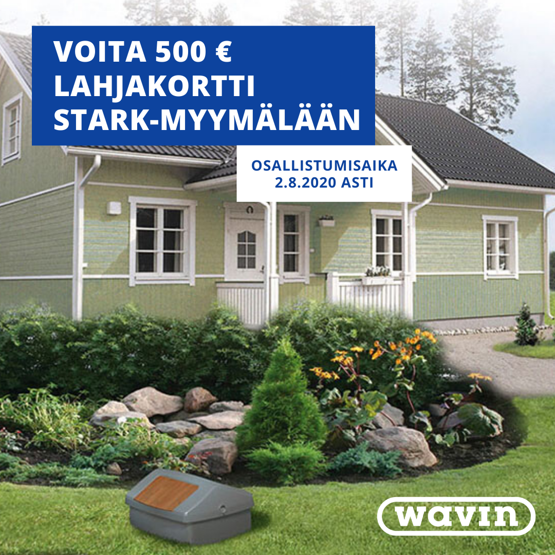 Osallistu kilpailuun Wavin Finlandin Facebookissa